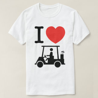 I Heart (Love) Golf Cart T-Shirt