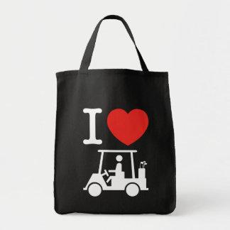 I Heart (Love) Golf Cart Tote Bag
