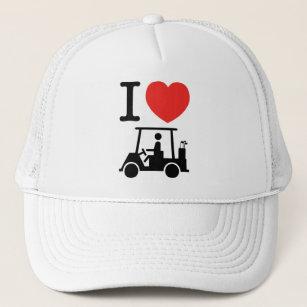I Heart (Love) Golf Cart Trucker Hat cfced4a0238