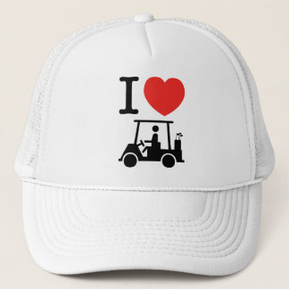 I Heart (Love) Golf Cart Trucker Hat