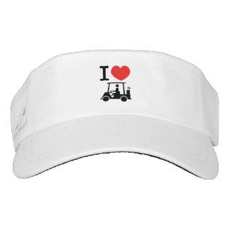 I Heart (Love) Golf Cart Visor