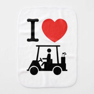 I Heart (Love) Golf Cart Burp Cloths