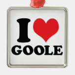 I Heart / love Goole Christmas Ornament