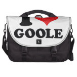 I Heart / love Goole Computer Bag