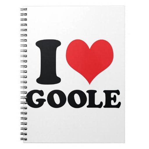 I Heart / love Goole Note Books