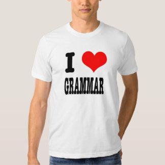 I HEART (LOVE) GRAMMAR T SHIRT