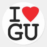 I Heart Love Guam Stickers