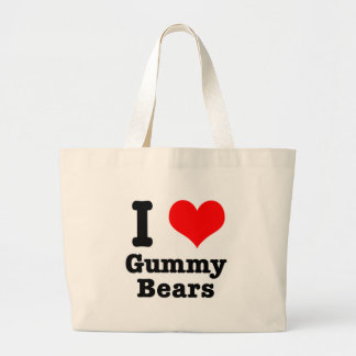 I HEART (LOVE) gummy bears Jumbo Tote Bag