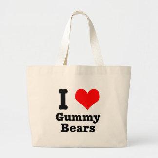 I HEART (LOVE) gummy bears Large Tote Bag