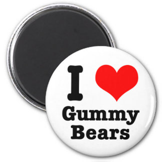 I HEART (LOVE) gummy bears Magnet