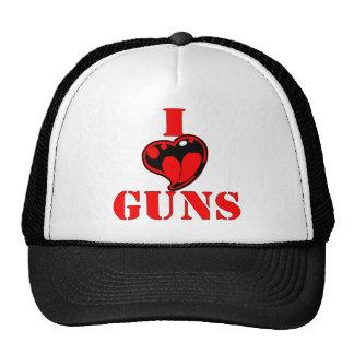 I (Heart) Love Guns Trucker Hat