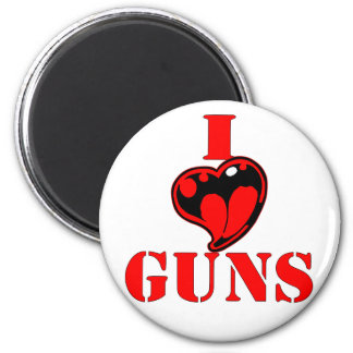 I (Heart) Love Guns Magnet