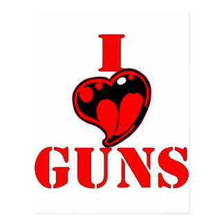 I (Heart) Love Guns Postcard