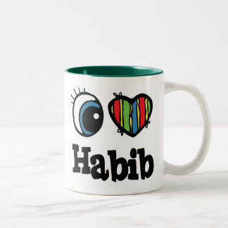 I Heart (Love) Habib Two-Tone Coffee Mug