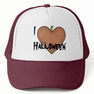 I Heart (Love) Halloween Mesh Hats