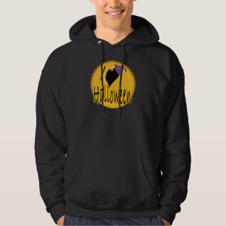 I (heart) love Halloween with Witch's Hat Hoodie