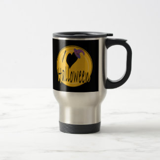 I (heart) love Halloween with Witch's Hat Mugs