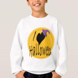 I (heart) love Halloween with Witch's Hat Sweatshirt