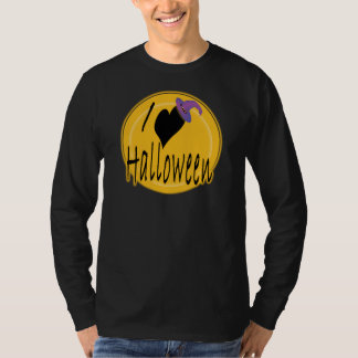 I (heart) love Halloween with Witch's Hat T-Shirt