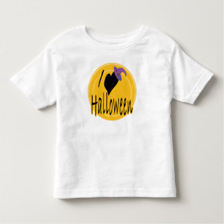 I (heart) love Halloween with Witch's Hat Toddler T-shirt