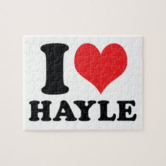 I Heart / love Hayle Jigsaw Puzzle