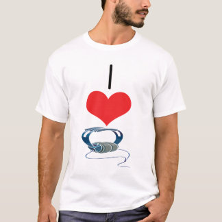 I Heart (Love) Headphones T-Shirt