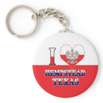 I Heart Love Hempstead Texas Keychain