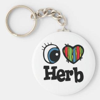 I Heart (Love) Herb Keychains