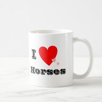 I Heart Love Horses Mug