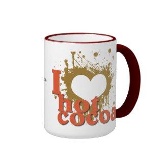 I Heart (Love) Hot Cocoa Ringer Coffee Mug