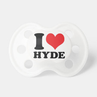 I Heart / love Hyde Pacifiers
