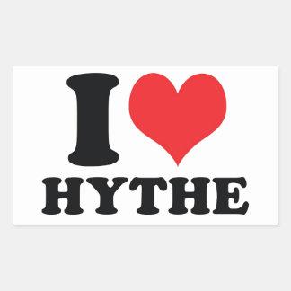 I Heart / love Hythe Rectangular Sticker