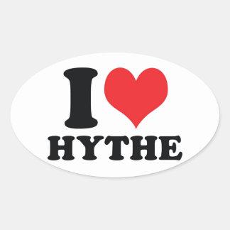 I Heart / love Hythe Oval Sticker