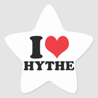 I Heart / love Hythe Star Sticker