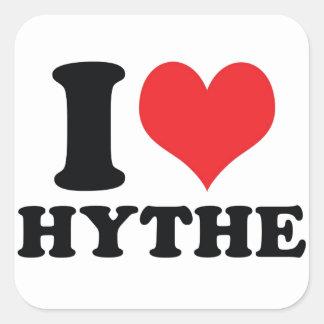 I Heart / love Hythe Square Sticker