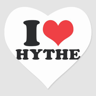 I Heart / love Hythe Heart Sticker