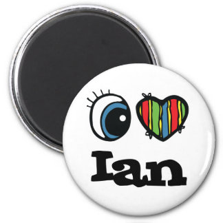 I Heart (Love) Ian 2 Inch Round Magnet