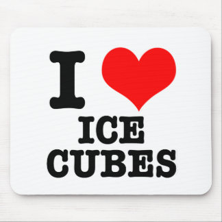 I HEART (LOVE) ICE CUBES MOUSE PAD