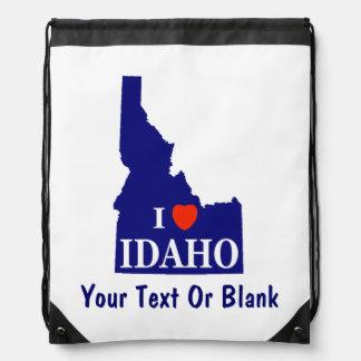 I Heart (Love) Idaho Drawstring Backpack