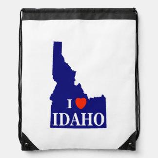 I Heart (Love) Idaho Drawstring Bag