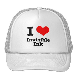 I HEART (LOVE) invisible ink Trucker Hat