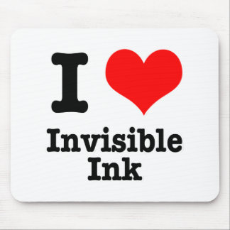 I HEART LOVE invisible ink Mouse Mat