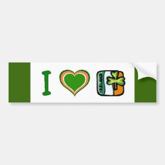 I Heart (Love) Ireland Bumper Sticker