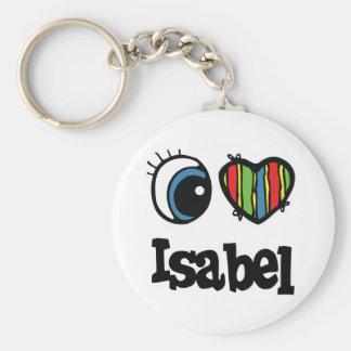 I Heart (Love) Isabel Basic Round Button Keychain