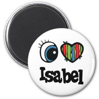 I Heart (Love) Isabel 2 Inch Round Magnet