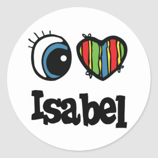 I Heart Love Isabel Sticker