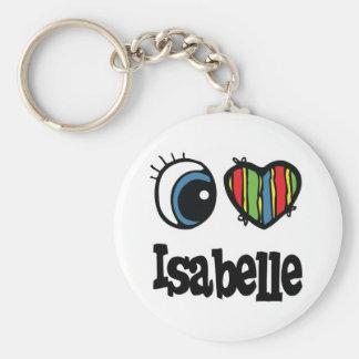 I Heart (Love) Isabelle Basic Round Button Keychain