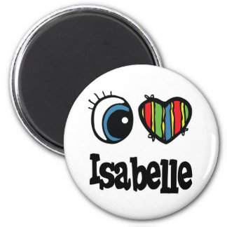 I Heart (Love) Isabelle 2 Inch Round Magnet
