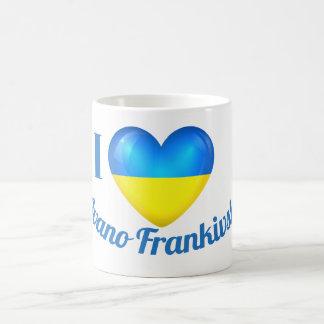 I Heart Love Ivano Frankivsk Ukraine Flag Mug