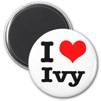 I HEART (LOVE) ivy 2 Inch Round Magnet